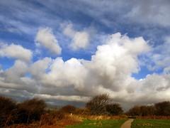 Blue sky and billowing cloud (billnbenj) Tags: blue sky clouds cumbria barrow