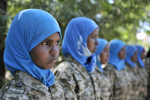 AMISOM Trains Female SNA Soldiers
