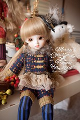 Merry Christmas 2013 (Kanki Ann) Tags: christmas red baby cute beige doll bjd lovely marron chocolat dollphotography rosenlied suume