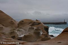 Yehliu Geopark (ericvaandering) Tags: water taiwan wave land yeliu breakingwave rockformation