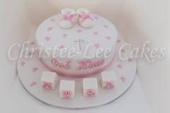 Nyah's Christening Cake (Christee-Lee Cakes) Tags: blocks booties christeningcake