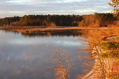Walk around the lake at sundown (Sam0hsong) Tags: winter lake evening day cloudy northcarolina lakecrabtree partlycloudy pwfall wsweekly65