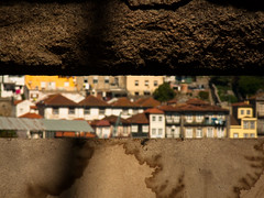 Porto view through a slit ( ...... ( Alicia G. )) Tags: city houses abandoned tourism view ciudad porto vista casas turismo oporto deteriorated spyhole slit abandonado rendija deteriorado