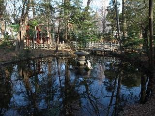 調神社の神池