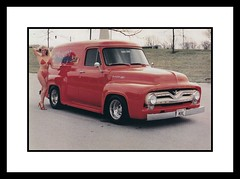 "'55 Mercury Panel Truck, 1985 (Cosmo's ""ART"" Gallery) Tags: 1955 truck panel mercury babe delivery van 1985 m100 customcar paneltruck"