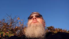 Gazing Out to Sea (Hawk 1966) Tags: sky sun sunlight beach me self sunrise beard dawn daylight florida samsung pelican galaxy fl daybreak brevard selfie nx indialantic mirrorless