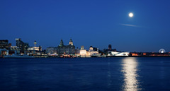 Liverpool Waterfront under moonlight. (f22photographie) Tags: nightphotography liverpool fullmoon moonlight rivermersey liverpoolwaterfront liverpoolatnight pierheadliverpool liverpoolwaterfrontundermoonlight