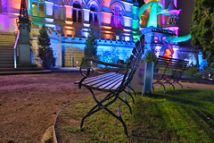 Park bench (Mettwoosch) Tags: königswinter drachenfels parkbank bank nrw deutschland germany park bench castle dragon drachenburg night lights colors nacht lichter longexposure langzeitbelichtung worldoflights outdoor travel tour canon eos 5dm3 ef lens 5d3 architecture architektur