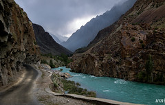 river ghizar (umme muhammad rana) Tags: river pakistan peaks water sky clouds baltistan gilgit morninglights morning mountains