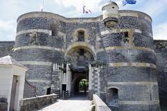 Gatehouse and Drawbridge (Dave Hamster) Tags: angers france castle gatehouse angercastle chateaudangers entrance drawbridge