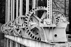 pont de la Machine (overthemoon) Tags: switzerland suisse schweiz svizzera romandie genève genf geneva pontdelamachine rhône waterworks bw