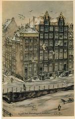 Anton Pieck- Bemin dan Amsterdam, 1948 ill   Singel-Blauwburgwal (janwillemsen) Tags: antonpieck amsterdam bookillustration 19451948