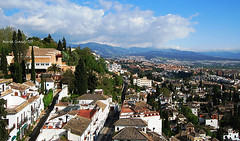 GRANADA 'S ROOFS and BEYOND... (mariagrandi985) Tags: clouds skyandclouds buildingsandclouds landscape mountains city cityskape roofs tileroof plants treesinthecity bluesky colors colorsinourworld blue white green buildings streets perspective composition perfectcomposition granadaandalucíaespaña granadaandalusiaspain tuesdayclouds mariagrandi985 martesdenubes outdoor uploadedfebruary212017 nwn nicewonderfultuesdayclouds ngc