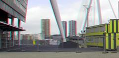 Bouw-voorbereidingen Toren op Zuid Rotterdam 3D (wim hoppenbrouwers) Tags: bouwvoorbereidingen torenopzuid rotterdam 3d anaglyph stereo redcyan kpngebouw kpn kopvanzuid