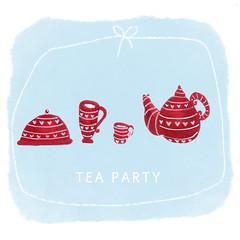 teaparty (Daphna Awadish) Tags: teaparty tea teapot pot hotpot illustration illustrator red copics copicmarkers posca