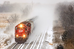A Mobile Blizzard (sdl39hogger) Tags: cp canadianpacific watertownsub ethanoltrain emd electromotivedivision sd60 oconomowoc cooney wisconsin snow winter