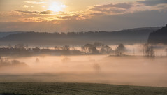 On a spring morning (marcmayer) Tags: spring sun frühling sonne sunrise sonnenaufgang clouds bewölkt wolken nebel dunst fog hazy haze mist misty landscape natur nature nikon d5200 sigma