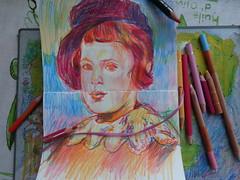 EL CUADERNO CON LOS AMIGOS (GARGABLE) Tags: angelbeltrán gargable cuaderno colores composición portrait retrato sketch drawings dibujos
