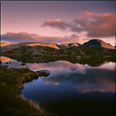 tarn (steve-jack) Tags: hasselblad 501cm 50mm fuji velvia 50 120 6x6 film cumbria lake district autumn tarn tetenal e6 kit