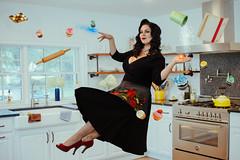 Paranormal Kitchen - Katrina Weidman (RachelMarieSmith) Tags: levitation paranormal lockdown katraina weidman pinup kitchen floating float levitate magical magic ghosts ghost hunter cook cookbook cooking bake baking bakery pie philadelphia