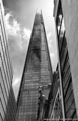 The Shard - London UK (Keystone Photography) Tags: repacholi keystone pentaxk5 shard london england uk landmark building skyscraper glass reflection clouds contrast blackandwhite windows reflections