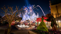 Epcot - Romantic Fireworks (Jeff Krause Photography) Tags: beast beauty belle clickheretoaddkeywords disney epcot fireworks flower fountain france garden illuminations park show topiaries topiary wdw world theme