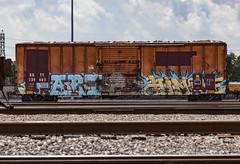 (o texano) Tags: houston texas graffiti trains freights bench benching fart hindue gtb