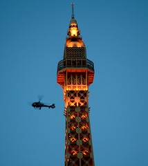 Helicopter and Paris Tower