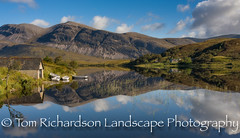 Loch Stack Reflections (tomrichardson931) Tags: landscape rowingboat water mountains outdoor hills picturesque countryside scene sutherland alba glen river scotland scenic riverbank arkle reflections boathouse europe uk lochstack unitedkingdom gb
