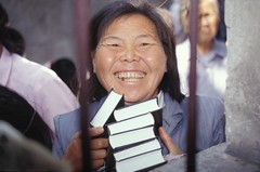 Happy Grandmother has Stack of Bibles for Family Members (CHINA CRY) Tags: beijing china stars 2017 easter christ creator jesus science creation creationism made he bible scriptures rapture god yahweh jehovah born again saved evangelical gospel meeting tent psalm verse study revelation tribulation son antichrist satan devil enemy john gospels epistles conference seminary moody king james new american standard international version thus herod christmas passover brirth bethlehem jerusalem samaria apostles diciples mary joseph palastine israel israeli night tree persecution chinese christians