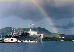 CABLE_home_in_guam_compressed (USS Frank Cable (AS 40)) Tags: uss frank cable guam us navy as 40 pacific 7th fleet sub tender submarine subpac subgru 7 repair msc military sealift command civilian mariners