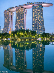 Marina Sands Bay Hotel in Singapore (patuffel) Tags: singapore singapur marina sands bay silver garden gardens by reflection