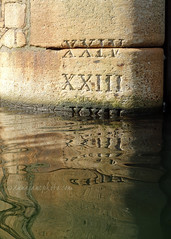 XXII (.annajane) Tags: liverpool dock merseyside water reflection albertdock wall number romannumeral