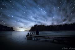 When space is watching us (petrisalonen) Tags: astrophotography finland winter blue digital spring landscape space longexposure longexpo universe finnishnature nature
