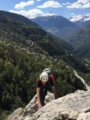 c'est moi :) (bulbocode909) Tags: valais suisse nax viaferrata montnoble vald'hérens montagnes nature gens forêts arbres nuages printemps paysages vert bleu