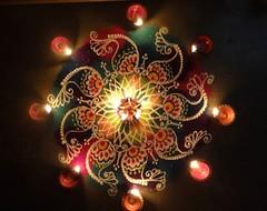 #lights n #colours #rangoli (leenap13) Tags: colours rangoli lights