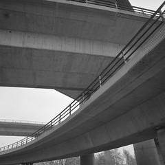 Interchange II (Bion Grillart) Tags: acros neopan 100 120 mediumformat 6x6 fuji fujifilm analog atomal a49 50mm mamiyag14f50mm infrastructure architecture monochrome bw geometry bridge highway mamiya6 m6 mamiya film interchange concrete lowdynamicrange