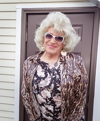 Mom? (Laurette Victoria) Tags: blonde dress jacket sunglasses laurette woman earrings
