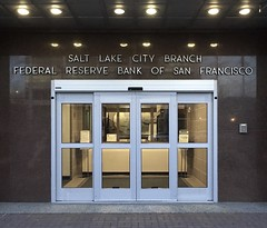 Salt Lake City Branch Federal Reserve Bank of San Francisco (Stewf) Tags: lettering metal geometric sansserif saltlakecity
