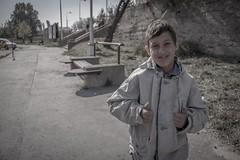 He got the streets (David Fóti) Tags: people child kid gypsy street portrait out like thumb thumbsup streetkid poor society sociography sociophoto photograp photography canon eos600d slovakia komarno