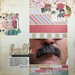 Hello Handsome (girl231t) Tags: 2016 layout paper scraplifted scrapbook 12x12layout 6x6paperpadlove