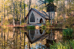 Ida Carson's Memorial Chapel (Irina1010) Tags: callawaygardens chapel idacarson architecture reflections lake spring beautiful nature canon outstandingromanianphotographers
