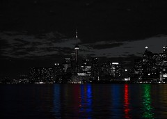 (A Great Capture) Tags: agreatcapture agc wwwagreatcapturecom adjm ash2276 ashleylduffus ald mobilejay jamesmitchell toronto on ontario canada canadian photographer northamerica torontoexplore city downtown lights urban night dark nighttime cityscape urbanscape eos digital dslr lens canon 70d skyline towers tower scenery scenic sky himmel clouds nuvole wolken nubes wet water agua eau lake