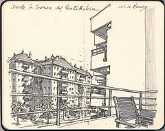 En el PuertoBahía (f.gómezcorisco) Tags: librito rotulador airelibre castejao esbozo urbansketchers dibujo boceto arquitectura elpuertodesantamaría