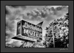 Lockview Motel (the Gallopping Geezer '4.5' million + views....) Tags: sign signs signage business store storefront ad advertise advertisetment smalltown backroads backroad saultstmarie mi michigan upperpeninsula up roadtrip canon 5d3 tamron 28300 geezer 2016 lockviewmotel lockview motel rooms roomforthenight rentstay vacation tourist evening clouds sky