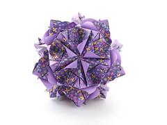Spring awakening (ronatka) Tags: kusudama modularorigami nataliaromanenko rectangle12 purple violet ef85mmf18usm whitebackground canoneos5dmarkiii inexplore