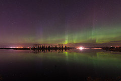 Adventures in life-148 (Ken Wiebe) Tags: april april2017 aurora auroraborealis barn green hilliersresvoir northernlights purple red spring trees