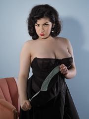 Smolder -- Holly x Gigi #17 (Bruce M Walker) Tags: lingerie vintagelingerie woman cleavage bustier mediumformat