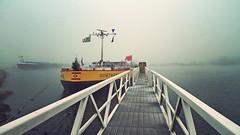 P1050210vf65 (hans hoeben) Tags: frozenandmistymorning dockedvesselsomtrans9 domtrans 9 panasonic lx3 adm amsterdam holland docked vessel west harbour tanker purple light ships lumix dmc