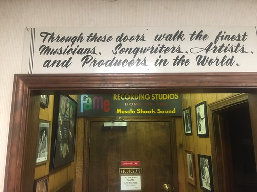 message on door to studio